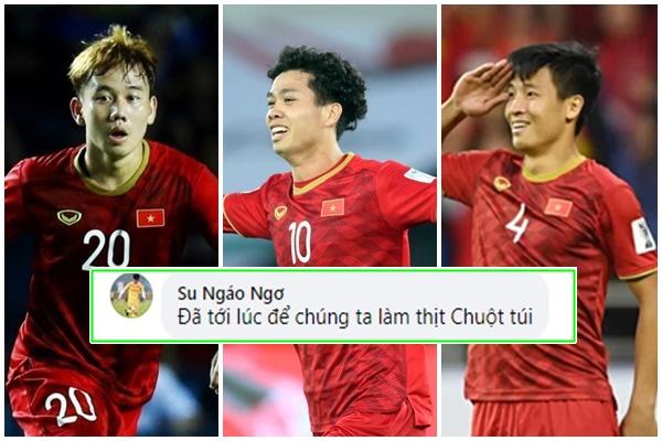 Công Phượng, Minh Vương, Tiến Dũng trở lại tuyển, fan Việt tự tin: 'Đã tới lúc để chúng ta làm thịt Chuột túi'