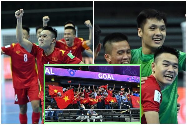 Hình ảnh rơi nước mắt của tuyển Futsal Việt Nam khi lọt vào top 16 đội mạnh nhất thế giới: 'Chúng em chiến đấu vì triệu trái tim đất Việt'